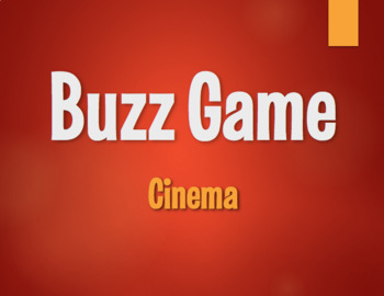 Spanish Cinema Buzz Game
