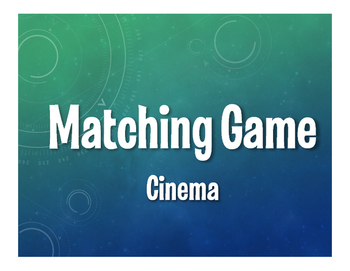 Spanish Cinema Matching Game