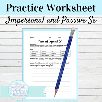 Spanish Cities and Towns: Impersonal and Passive Se Worksheet