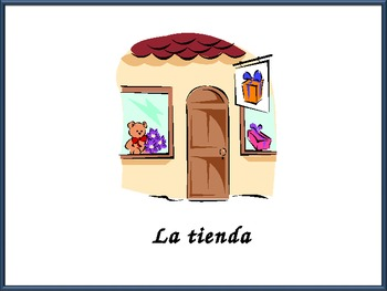 Spanish City Location Vocabulary Powerpoint with Practice Activities