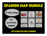 Spanish Map Bundle - Spanish City Vocabulary