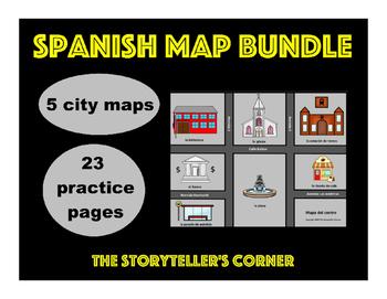 Spanish Map Bundle - Spanish City Vocabulary