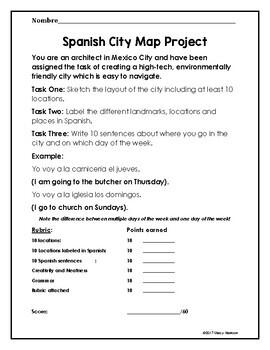 Spanish City Map Project
