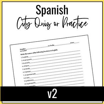 Spanish City Quiz