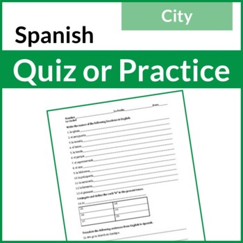 Spanish City Quiz