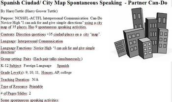 Spanish Ciudad City Spontaneous Speaking  Partner