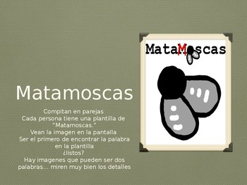 Spanish Civil War vocabulary Game- Paired Matamoscas with Images