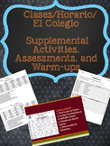 Spanish Clases Horario Colegio Supplemental Activities & A