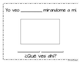 Spanish Class Book for Oso Pardo, Oso Pardo Que Ves Ahi?