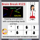 Spanish Class Brain Break Hopscotch - Hand - Foot Pictures