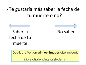 Would You Rather? 100% in Spanish - Icebreaker for Middle & High School