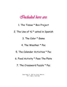 Spanish * Class Bundle ~ $7.00 for 7 ready-to-use resources