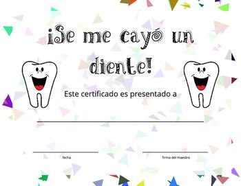 Spanish Class Certificates