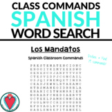 Spanish Classroom Commands Word Search - Los Mandatos Formales