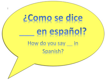 Spanish Class - Common Classroom Questions/Phrases