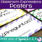 Spanish Classroom Expressions Posters