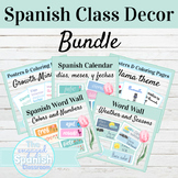 Spanish Class Decor Bundle | Colors, Numbers, Weather, Dat