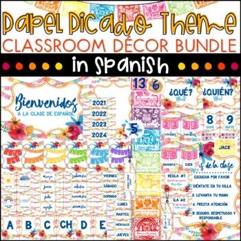 Spanish Class Decor Bundle - Papel Picado Theme