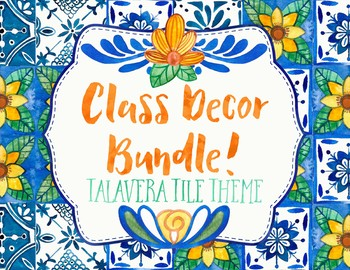 Spanish Class Decor Bundle Talavera Tile Theme