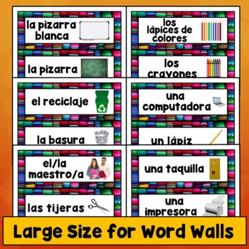 Spanish Class Decor, Decorations, Posters, Labels Bundle