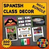Spanish Classroom Decor, Spanish Classroom Labels, Spanish Calendar, Posters