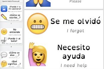 Spanish Class Emoji Survival Phrases
