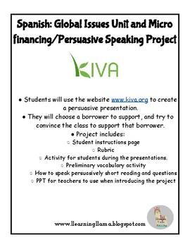 Spanish Class Global Challenges Kiva Microfinancing Project