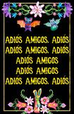 Spanish Class Goodbye Song Poster - Alebrije Theme