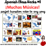 011 Spanish Class 90% TL + Classroom Management: Transition Video to Song Music