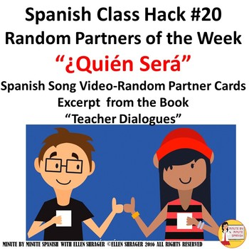 Spanish Class Hack: Random Partner Music Video - Cards  Improve Class Management