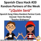 020 Spanish Class: Random Partner Music Video - Cards  Imp