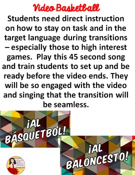 033 Spanish Class Hack to 90% TL and Improved Classroom Management:  Basketball