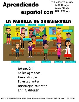 Spanish Class Hack to 90% TL and Improved Classroom Management:  Dibujar