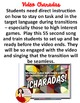 Spanish Class Hack to 90% TL and Improved Classroom Management:  Charadas