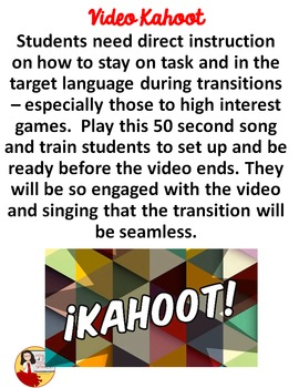 036 Spanish Class Hack to 90% TL and Improved Classroom Management:  Kahoot