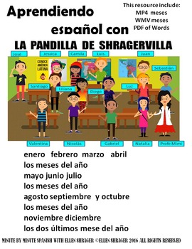 042 Spanish Class Hack to 90% TL _ Improved Classroom Management:  Meses del Año