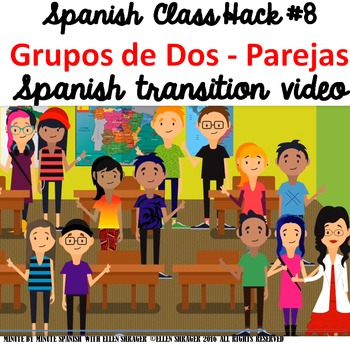 Spanish Class Hack to 90% TL and Improved Classroom Management:  Parejas