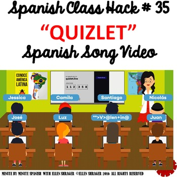 Spanish Class Hack to 90% TL and Improved Classroom Management:  Quizlet