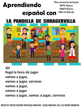 Spanish Class Hack to 90% TL and Improved Classroom Management:  Races