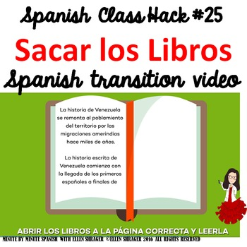 Spanish Class Hack to 90% TL and Improved Classroom Management: Sacar los Libros