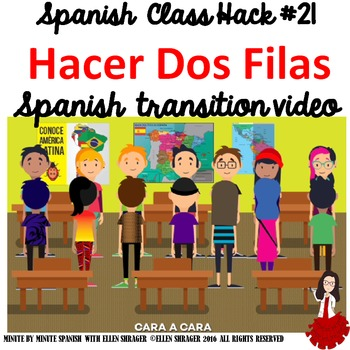 Spanish Class Hack to 90% TL and Improved Classroom Managment:  Make Two Rows