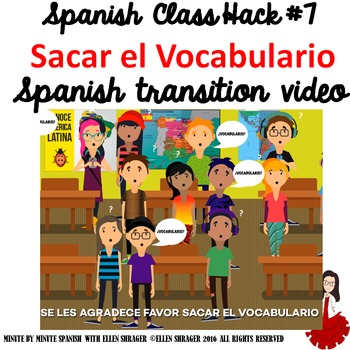 Spanish Class Hack to 90% TL and Improved Classroom Managment: Sacar Vocab