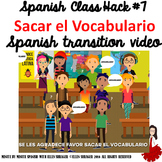 007 Spanish Class Hack to 90% TL and Improved Classroom Managment: Sacar Vocab