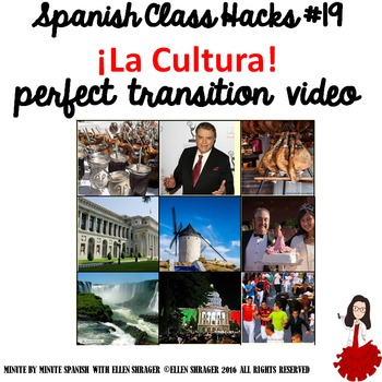 Spanish Class Hacks: 90% TL  Classroom Management: Transition Video to Culture