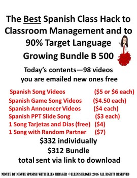 Spanish Class Hacks Growing Bundle of Videos