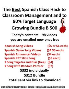 Spanish Class Hacks Growing Bundle of Videos