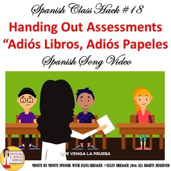 Spanish Class Hacks:  Pre-Test Music Video Improves 90% TL, Class Management