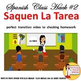 002 Spanish Class Hack 90% TL, TCI, Classroom Management:  Video Saquen la Tarea