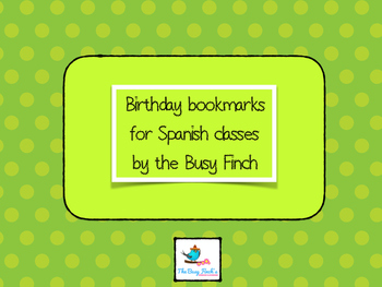 Spanish Class Happy Birthday Printables