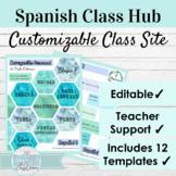 Editable Spanish Class Hub Hexagon Theme | Editable Class Site